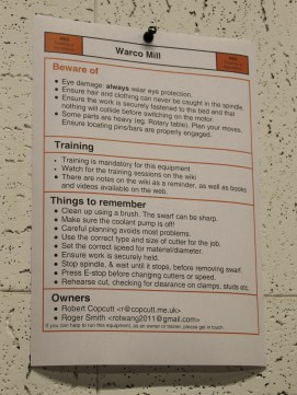Warco Mill instructions