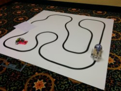 Line-following robot demonstration