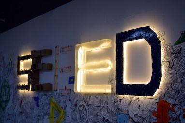 Seeed Studio sign as you walk in