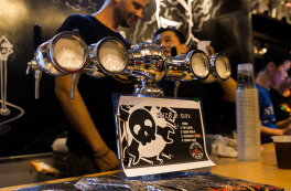 [Joe] christened a Hackaday beer for the night