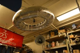 Top coil of massive tesla coil