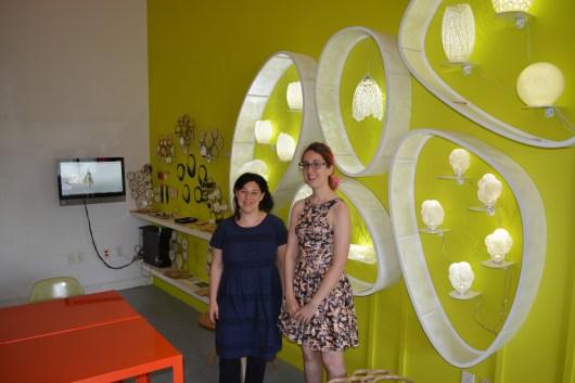 Sophi Kravitz and Jessica Rosenkrantz at Nervous System Studio