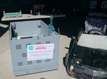 Steve the Mine cart and KITT, the Omaha Maker Group's power wheel superstars.