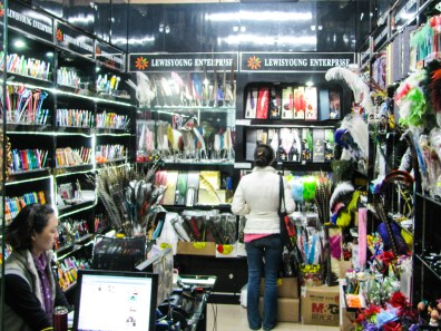One of the many shops that just specialize in pens, from novelty feather quills to high end graphic artist precision pens
