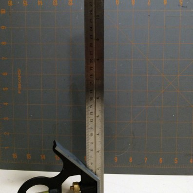 The two reference scales I typically use. A cutting mat and a combination square.