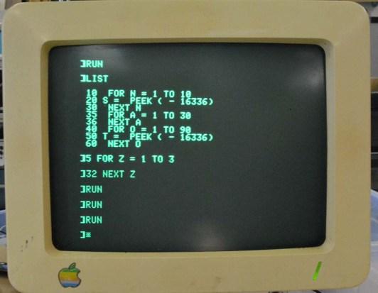 Sound on an Apple IIc.
