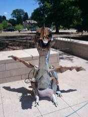 DMMF mascot Pokey the Fire-Breathing Dragon