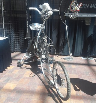 [Ira Sherman]'s bike that can be controlled with Furbies