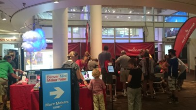 The SparkFun booth was always crowded