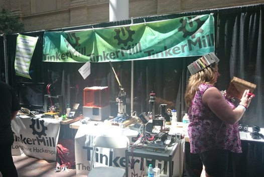 TinkerMill's booth - a 'space in Longmont, CO