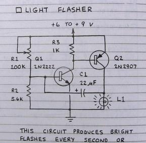 Light flasher sample circuit