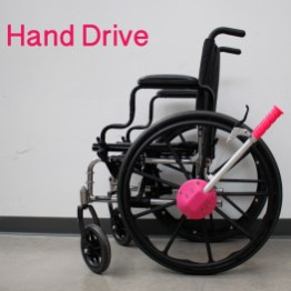 Hand Drive uses a rowing motion to move a wheelchair