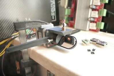 Unloaded test setup, vapor for awesome laser effects.