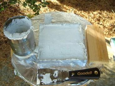 Barium titanate and wax in a mold