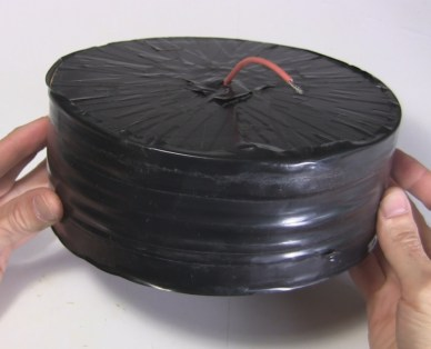 Big wax cylindrical capacitor