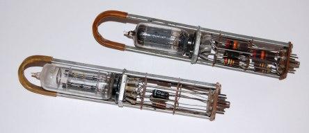 Early vacuum-tube memory modules, circa 1955.