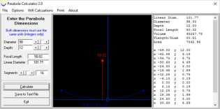 Parabola Generator, a bit of freeware from the 90s.