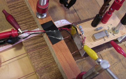 Another angle showing the diode