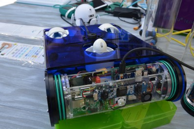 Electronics cylinder in the ROV