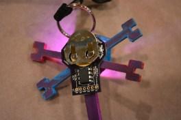ATtiny85 controls LED