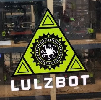 Lulzbot logo on printer node door
