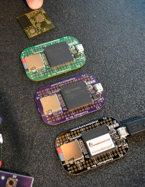 All the PocketBeagle prototypes