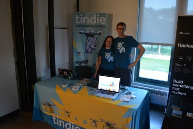 Jasmine and Brian at the Tindie table