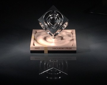 The 2017 Hackaday Prize trophy