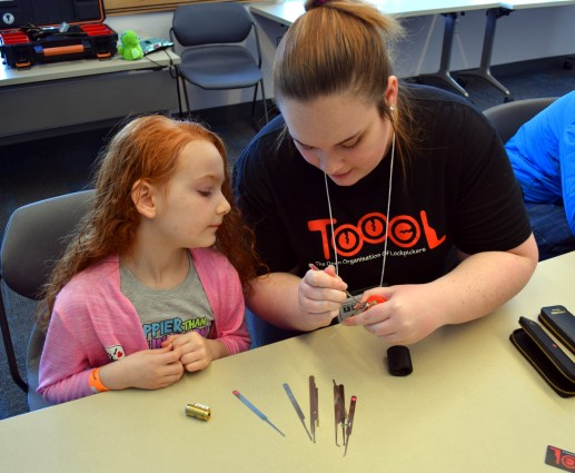 Children as young as seven learn the basics of lock picking