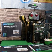 Shrine to Simone Giertz, for inspiring kid hackers