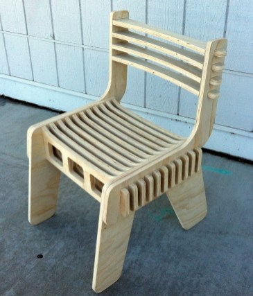 Eberlin's interlocking plywood chair.