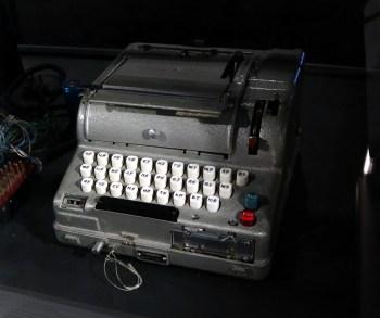 The Soviet electromechanical encryption machine.