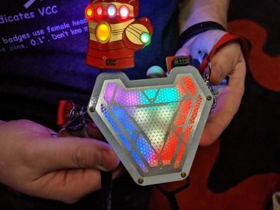 Arc reactor badge