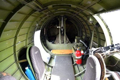 Tail gunner position obscured from view