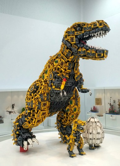 One of the dinosaur artworks on show.