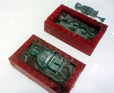 A mould for minifigure prototypes.