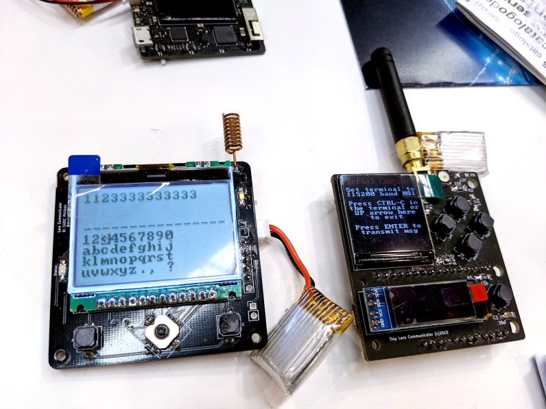 LoRa text messagers