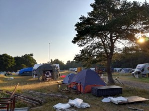 Plenty of space for distancing on the camp site.
