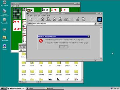 Windows 95's desktop