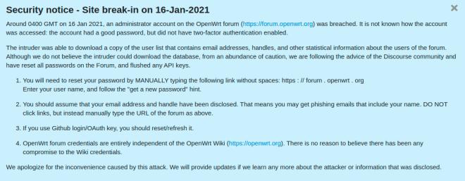 OpenWRT Security Notice