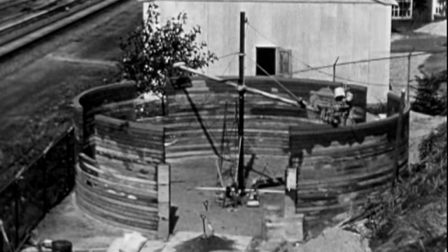 3D-printed wall builder, circa 1930s