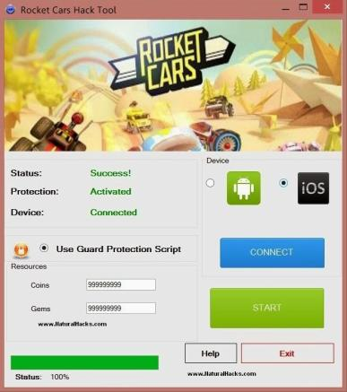 Rocket Cars Hack Tool