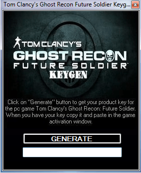 TOM CLANCY'S GHOST RECON: FUTURE SOLDIER KEYGEN