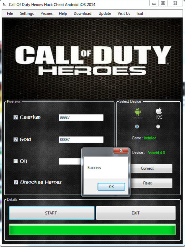 Call of Duty Heroes Gold, UNLIMITED Celerium, UNLIMITED Oil, Support for Android & iOS