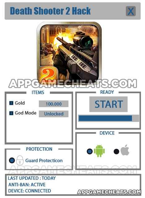 death-shooter-two-cheats-hack-gold-god-mode