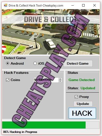 Drive and Collect Hack Tool