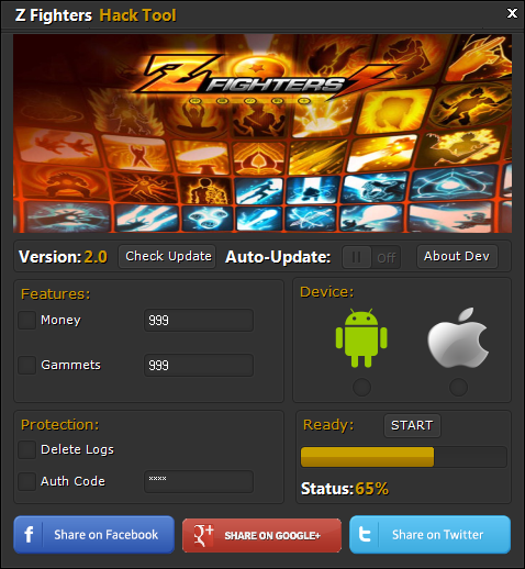 Z Fighters Cheat Tool