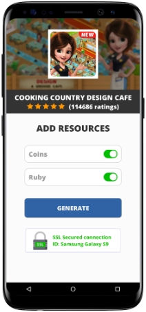 Cooking Country Design Cafe MOD APK Unlimited Coins Ruby