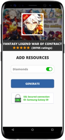 Fantasy Legend War Of Contract MOD APK Unlimited Diamonds