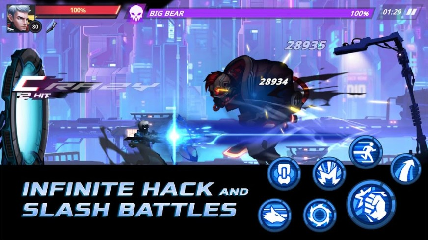 Cyber Fighters (MOD, Unlimited Money/Stamina) 2